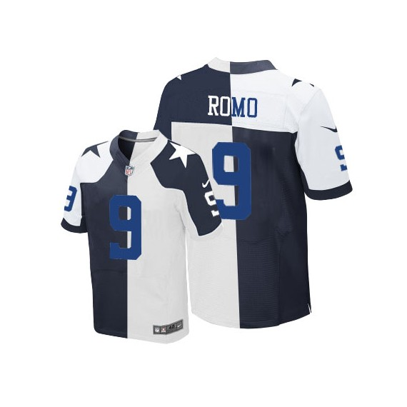 size 40 29f4c 5eb62 Dallas Cowboys Tony Romo Official Nike Two Tone Elite Adult  Throwback/Throwback NFL Jersey