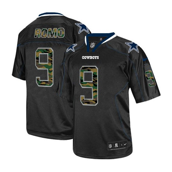 timeless design 89342 83621 Dallas Cowboys Tony Romo Official Nike Black Limited Adult Camo Fashion NFL  Jersey