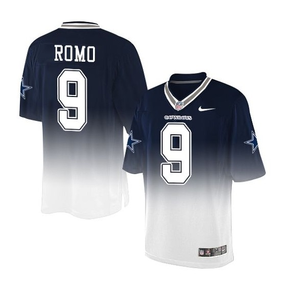 san francisco 5c53c 9fe4c Dallas Cowboys Tony Romo Official Nike Navy/White Limited Adult Fadeaway  NFL Jersey