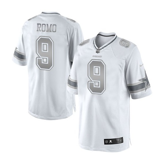 best service eae48 8e8f4 Dallas Cowboys Tony Romo Official Nike White Limited Adult Platinum NFL  Jersey